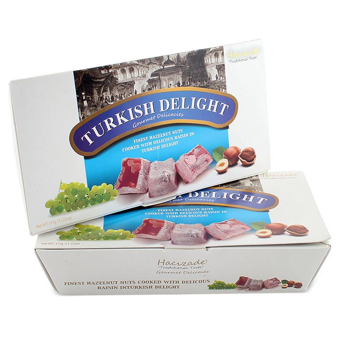 Лукум Turkish Delight с изюмом и фундуком, 375 г