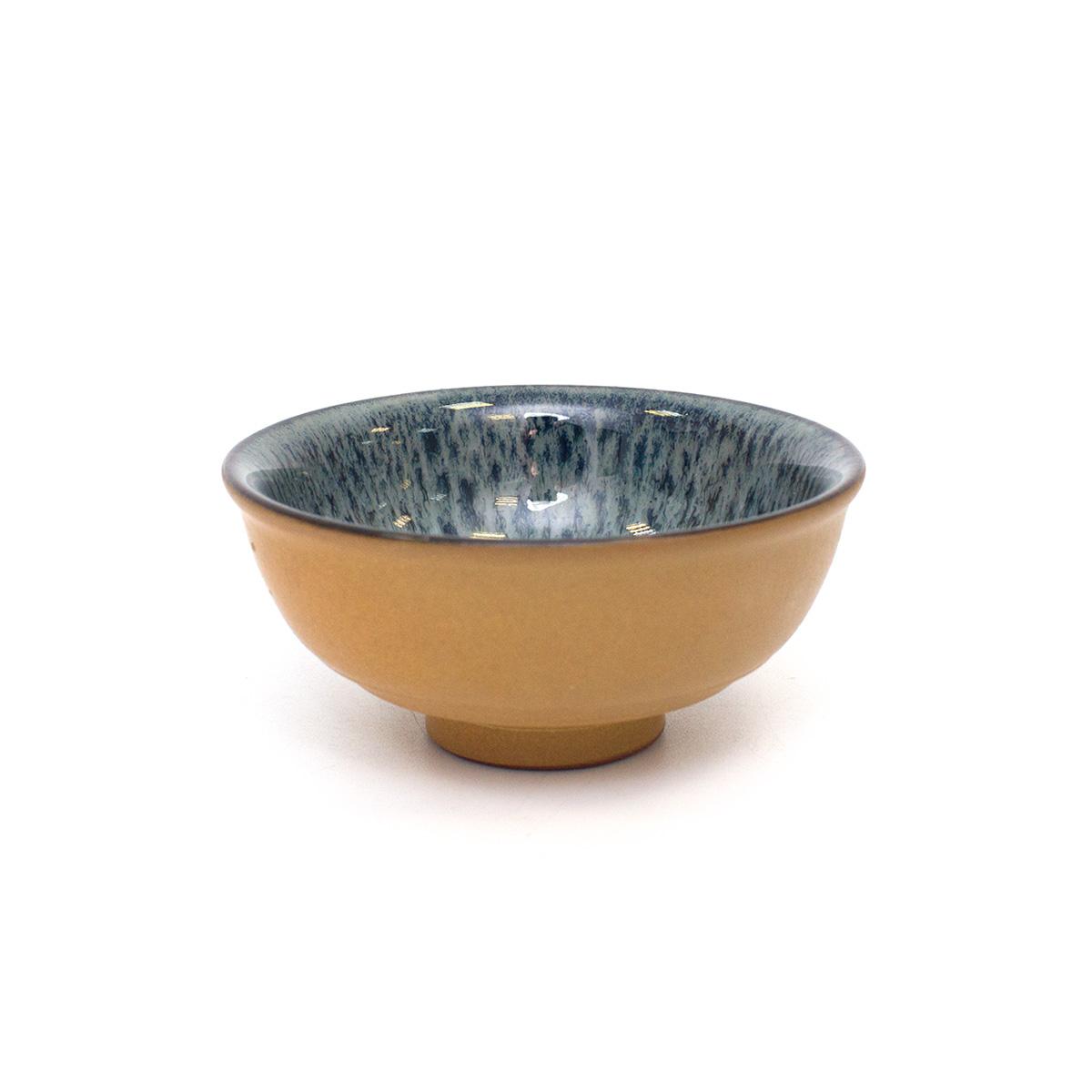 Пиала для чая из глины с эмалью