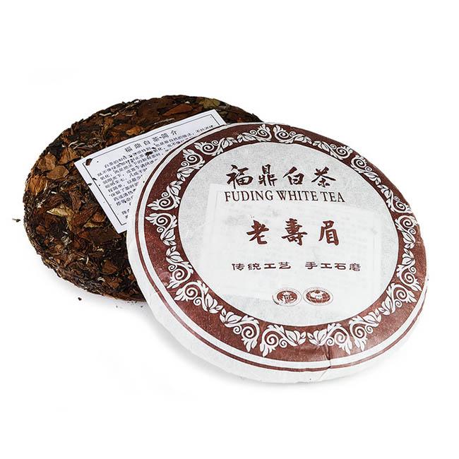 Белый чай Шоу Мей, фабрика Юкоу, Фудин, 2014 г., блин, 357 г