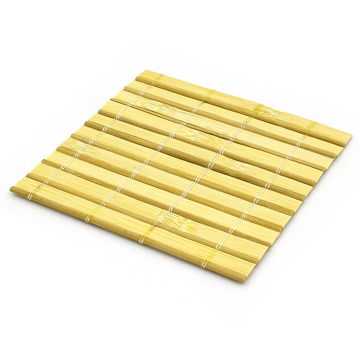 Набор чайных циновок (бамбук), натуральный цвет №2, 10 х см, 5 шт/упак
