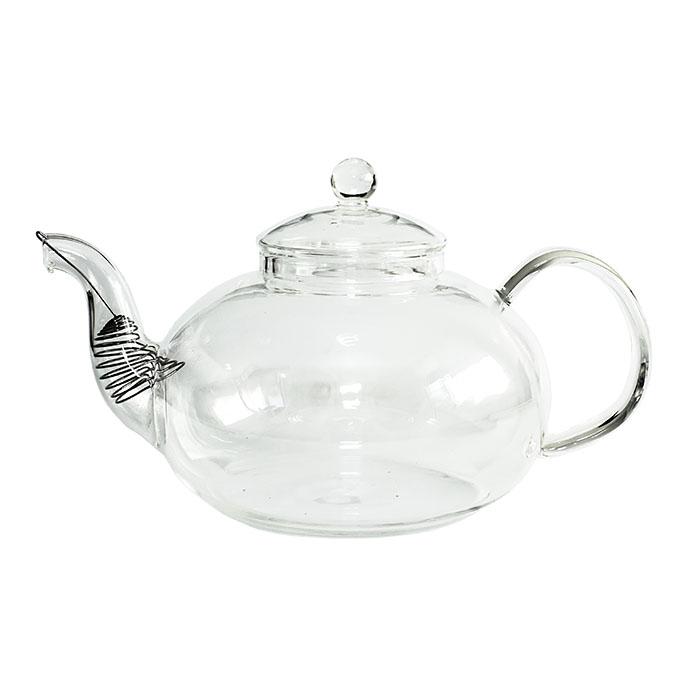 """Купить со скидкой Стеклянный заварочный чайник """"Смородина"""" без заварочной колбы, 1500 мл (уцененный товар)"""