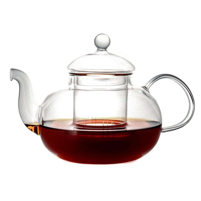 Стеклянный заварочный чайник Смородина с заварочной колбой, 900 мл стеклянный заварочный чайник смородина малая без заварочной колбы 600 мл
