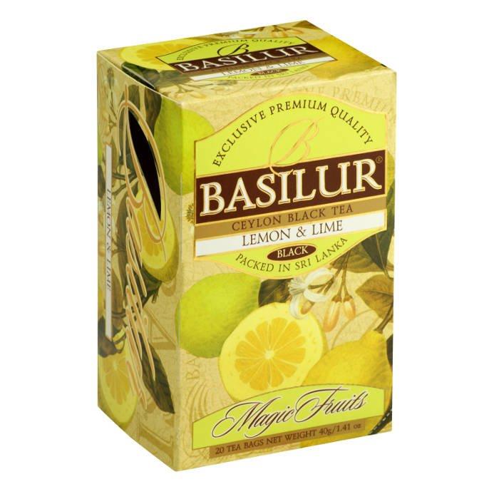 """Черный чай Basilur Волшебные фрукты """"Лайм и лимон"""", 20 пак х 2 г от 101 Чай"""
