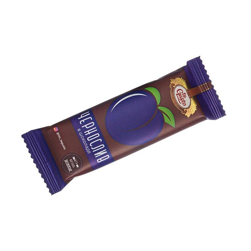 Фруктовый батончик из чернослива в шоколаде Te-Gusto, 30 г casali schoko bananen суфле банановое в шоколаде 150 г