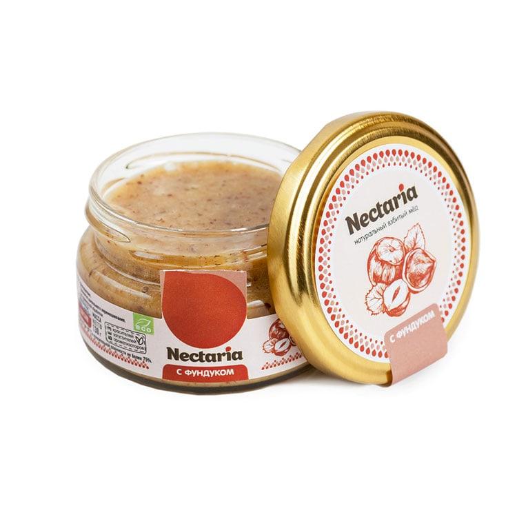 Крем-мёд Nectaria с фундуком, 130 г