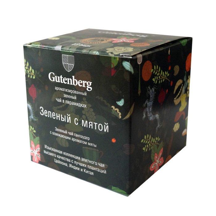 Пакетированный Зелёный чай с мятой в пирамидках (12 шт.)
