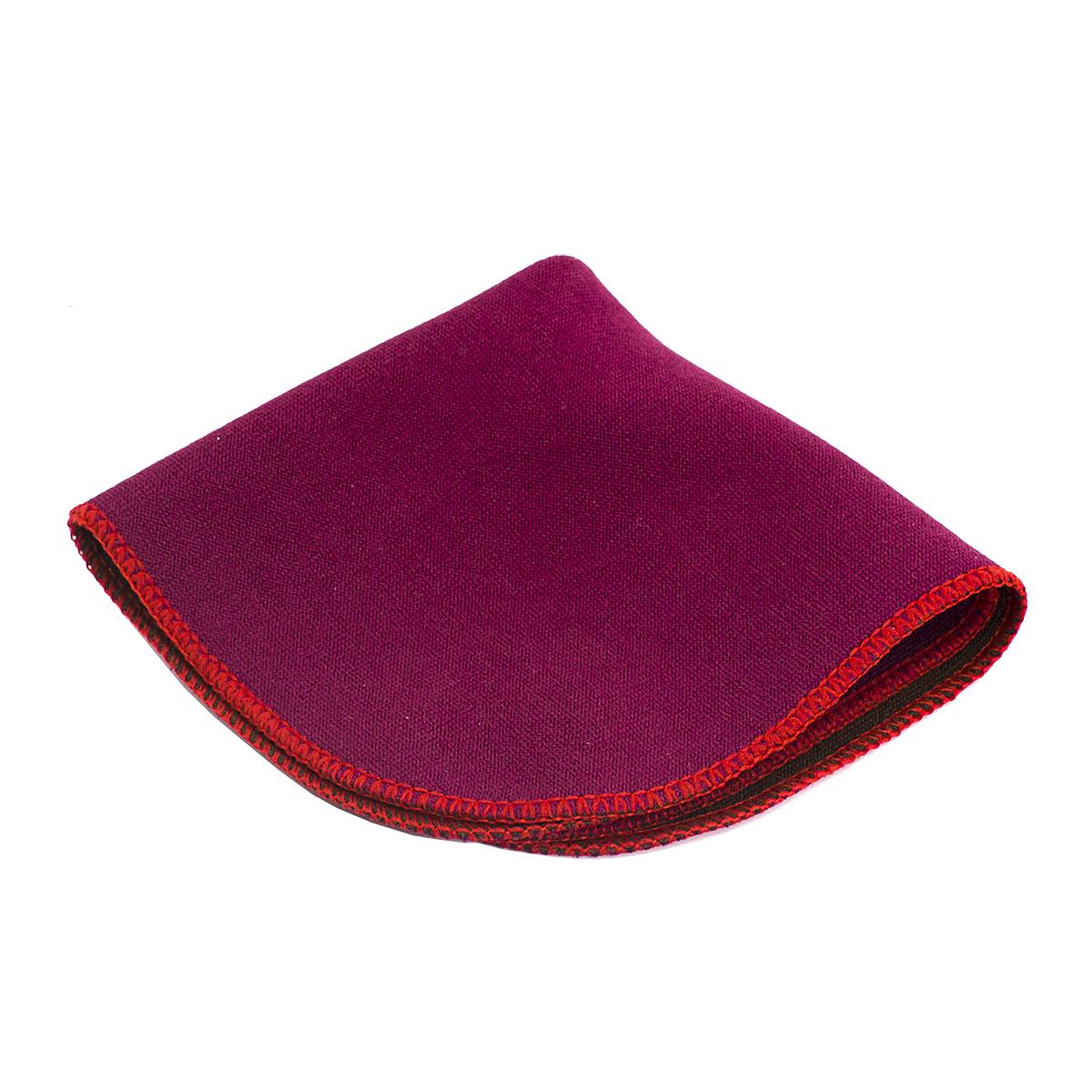 Полотенце для чайной церемонии Чаепитие красное 20 х см (двухцветное)