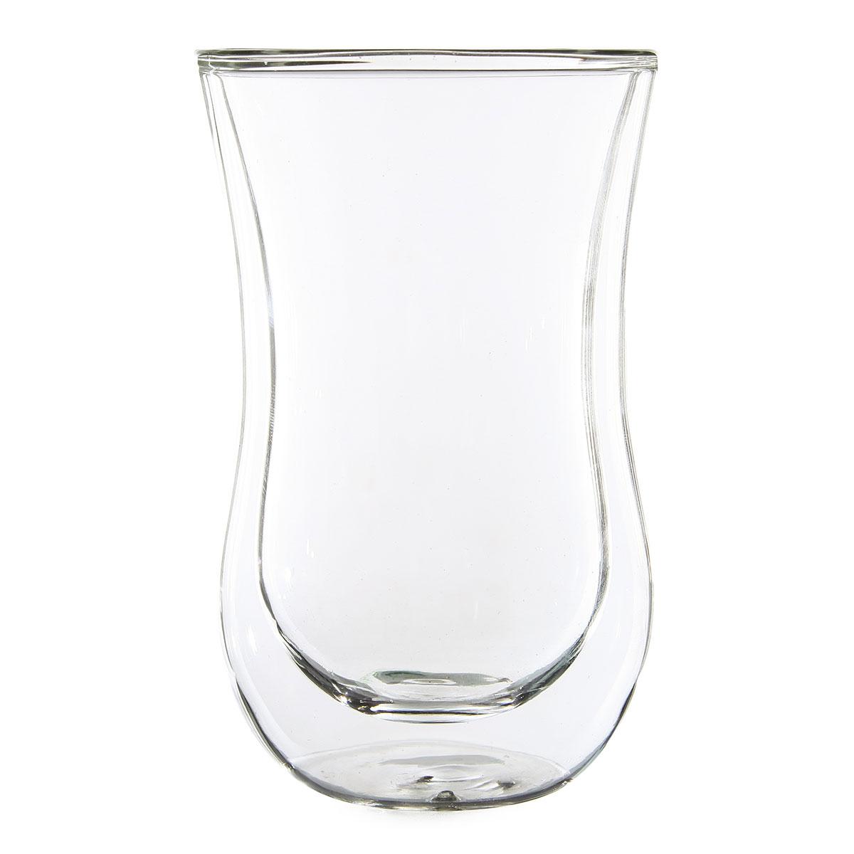 Стеклянный стакан с двойными стенками Утренняя роса 250 мл.