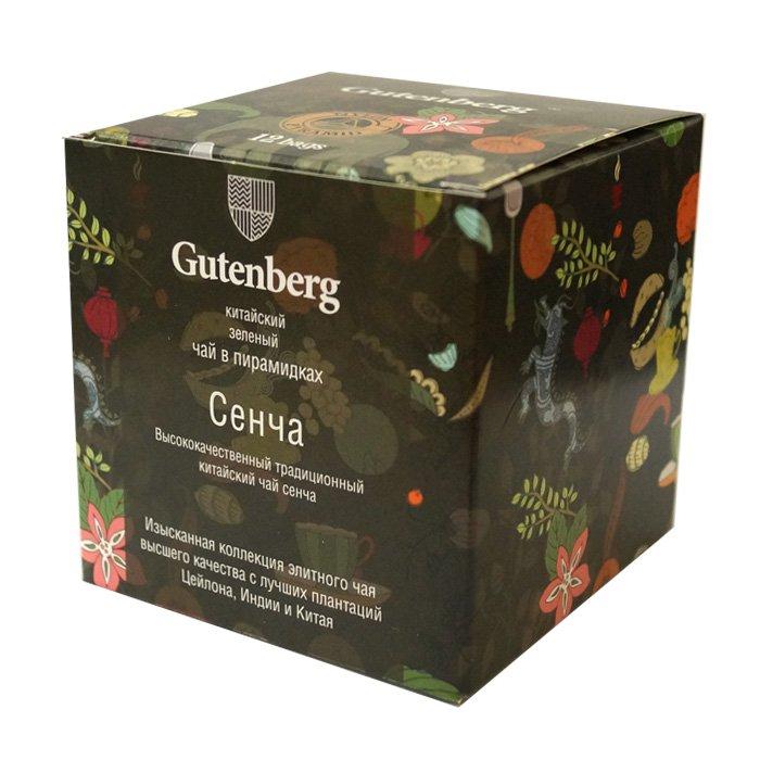 Пакетированный зеленый чай Сенча в пирамидках (12 шт.)