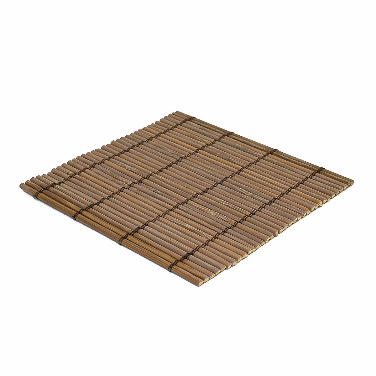 Набор чайных циновок (бамбук), коричневые, 10 х 10 см, 5 шт/упак