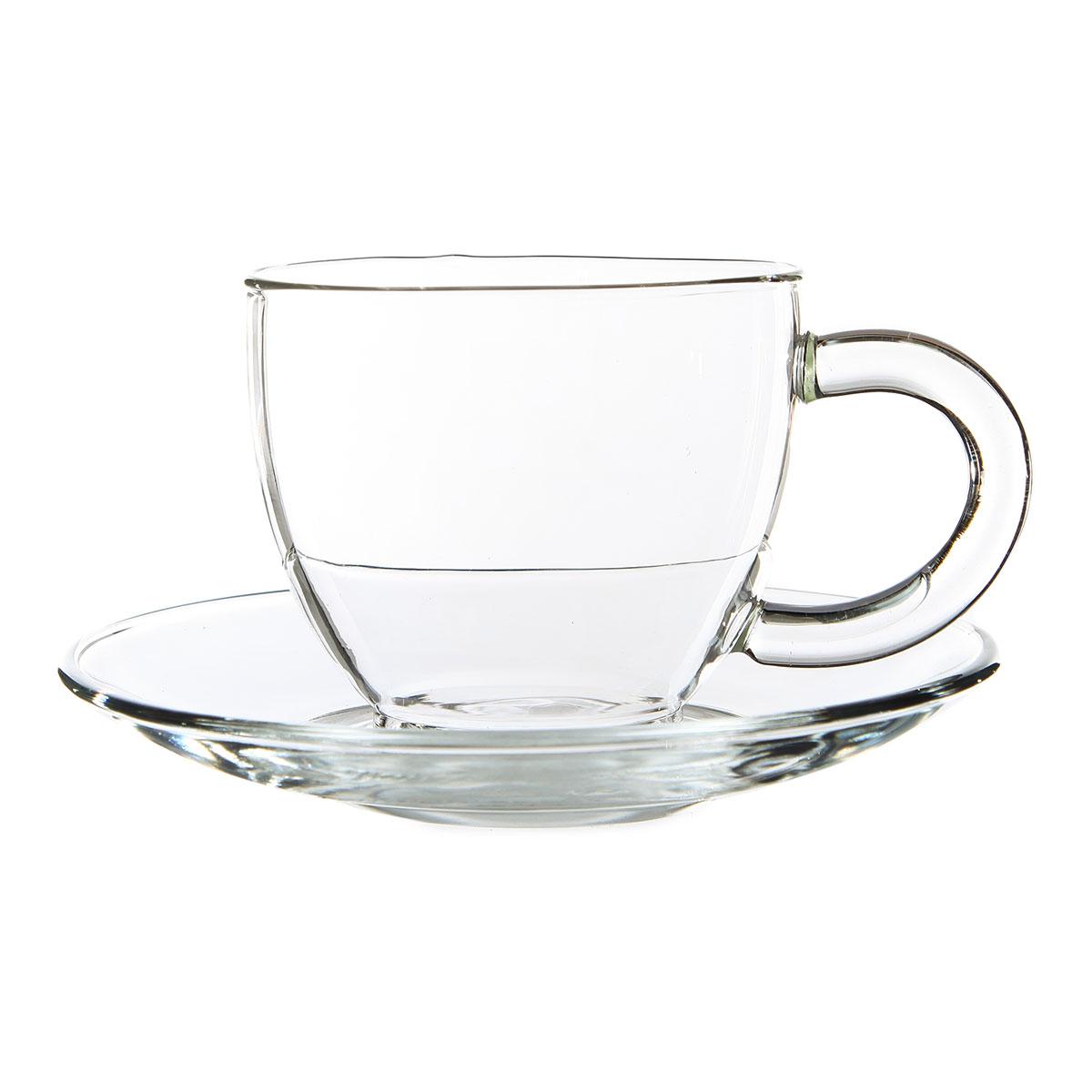 "Чайная пара ""Стеклянный бутон"", 150 мл"