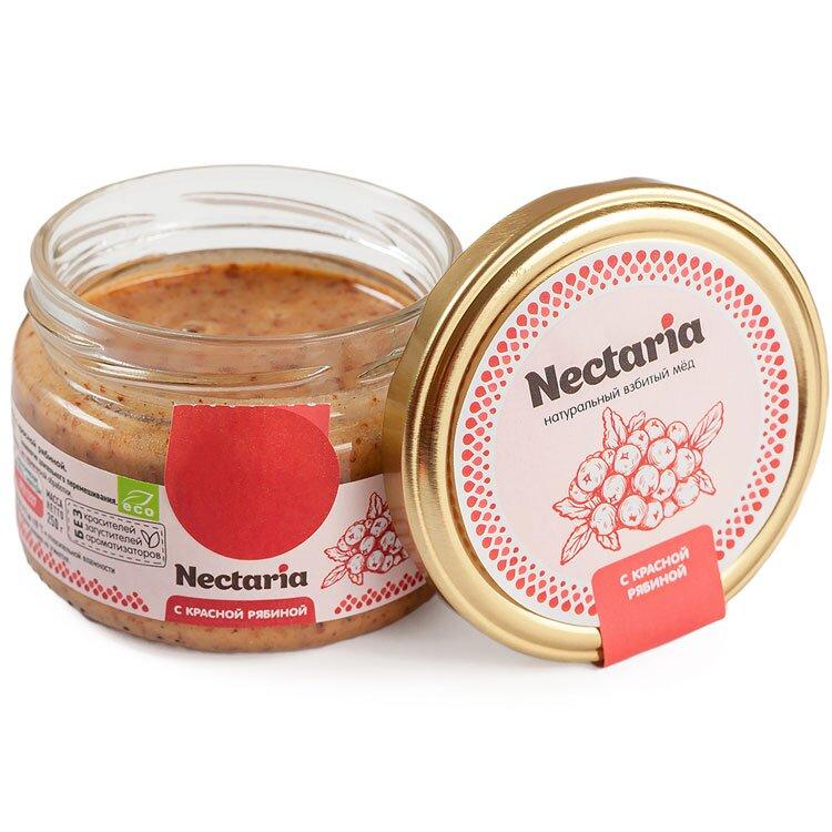 Крем-мёд Nectaria с красной рябиной, 250 мл