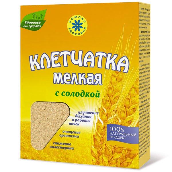 Клетчатка пшеничная мелкая с солодкой, 200 г от 101 Чай