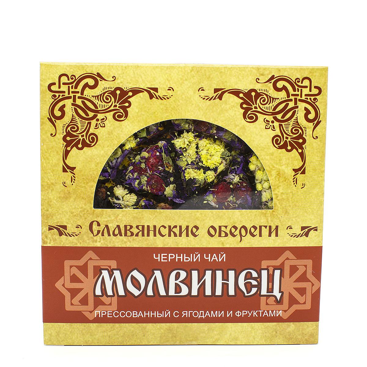 Чай чёрный Молвинец, прессованный, блин, 125 г бессмертника песчаного цветки 30 г красногорск