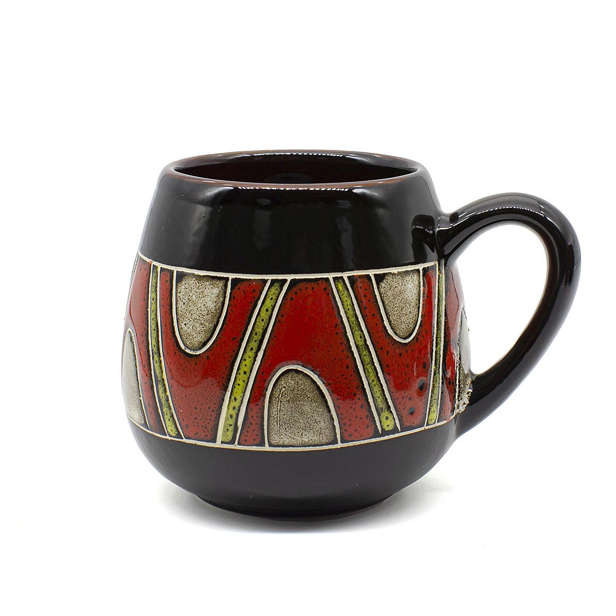 чашка глиняная малиновый щербет 350 мл Чашка глиняная Орнамент, 350 мл