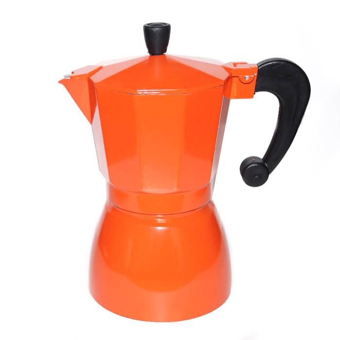 Гейзерная кофеварка оранжевая, 300 мл от 101 Чай