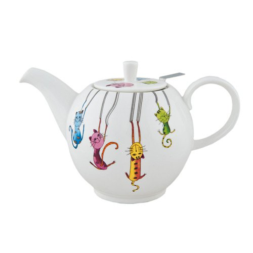 "Фарфоровый заварочный чайник ""Паркур"", 1000 мл"