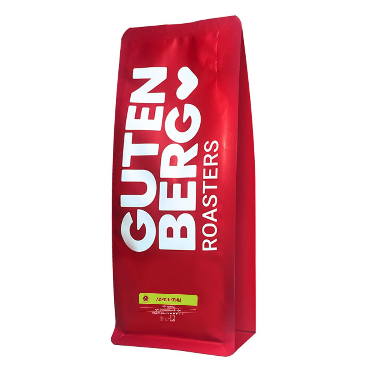 Фото - Кофе в зернах ароматизированный Айришкрим, уп. 1 кг кофе в зернах lemur coffee roasters ирландский крем ароматизированный 1 кг
