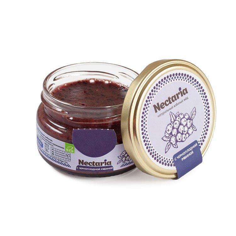 Крем-мёд Nectaria с черноплодной рябиной, 100 г