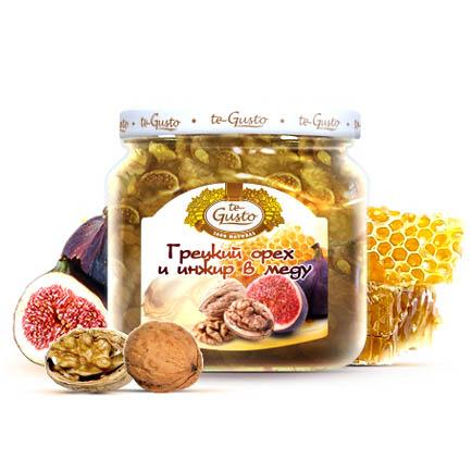 Грецкий орех и инжир в меду Te-Gusto, 300 г