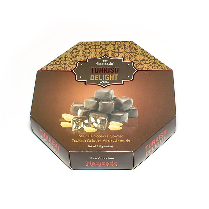 Лукум в шоколаде с миндалем, 250 г