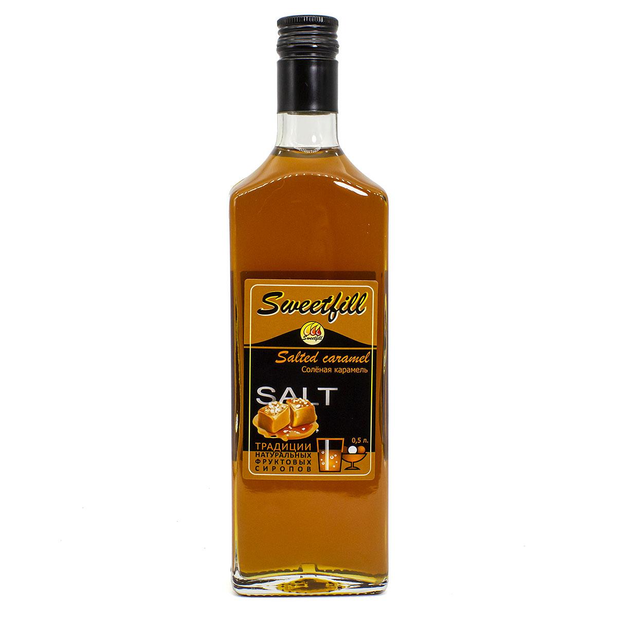 Сироп Sweetfill Соленая карамель, 0,5 л vedrenne карамель сироп 0 7 л