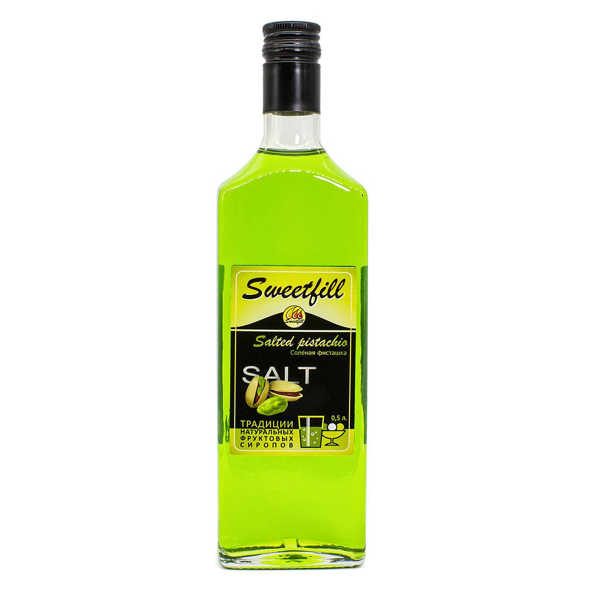 Сироп Sweetfill Соленая фисташка, 0,5 л barinoff сироп мятный 1 л