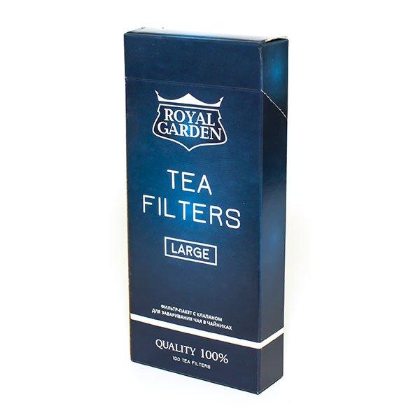 Фильтры для заваривания чая Royal Garden, размер L (уп. 100 шт.)