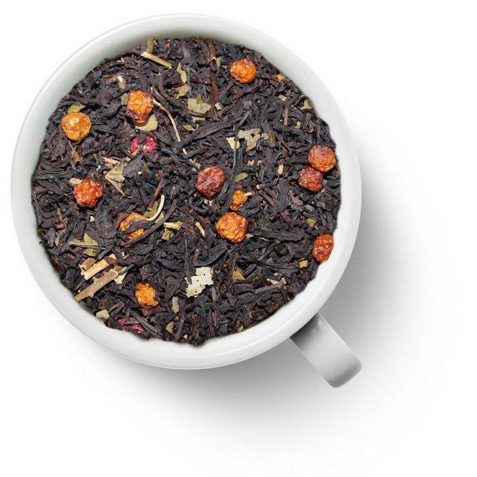 Черный чай с красной рябиной