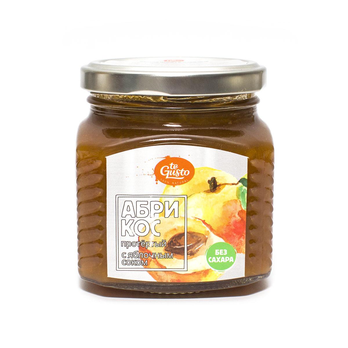 Абрикос протертый с яблочным соком Te-Gusto, 300 г barinoff сок яблочный 3 л