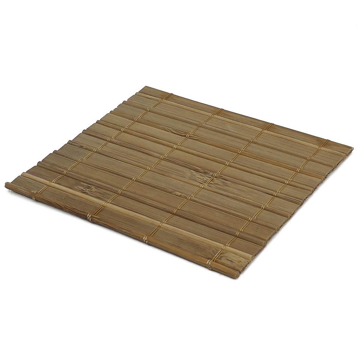 Набор чайных циновок (бамбук) светло-коричневые 10 х 10 см 5 шт/упак.