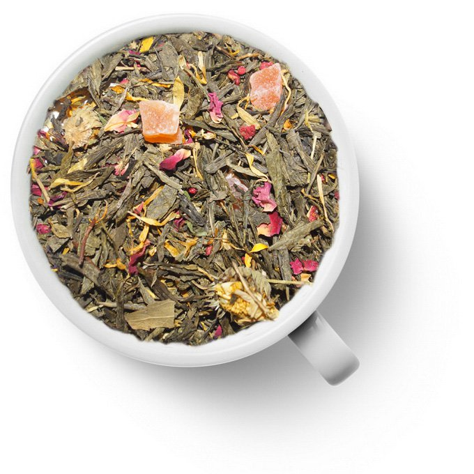 Зеленый ароматизированный чай Золотая Фортуна