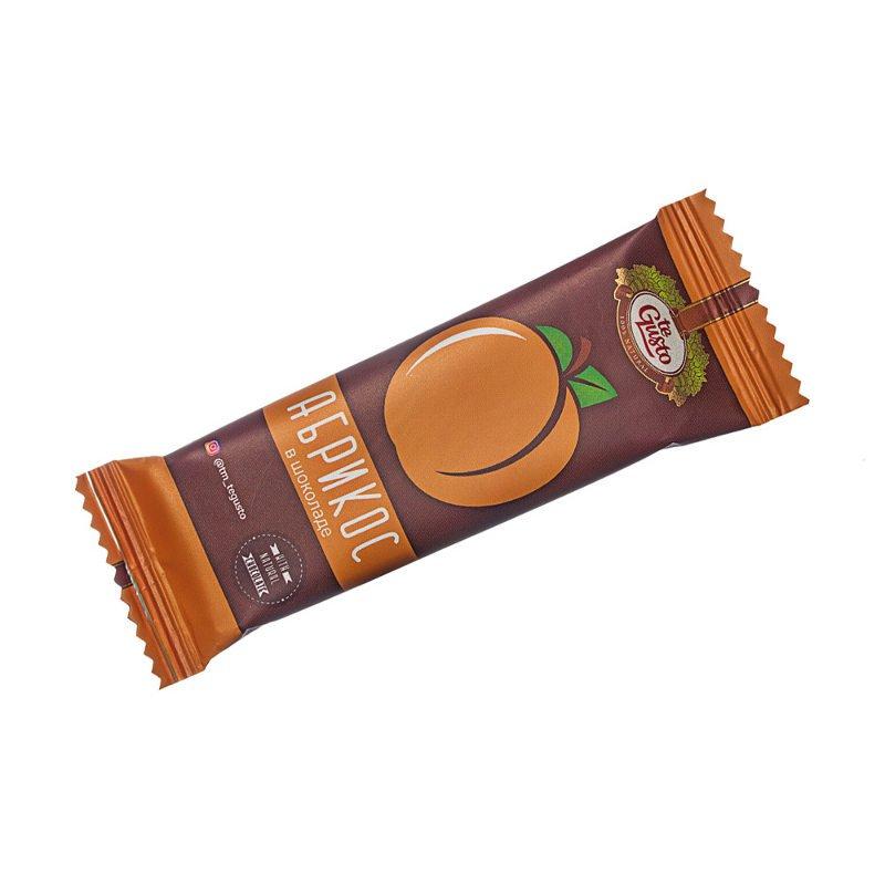 Фруктовый батончик из абрикоса в шоколаде Te-Gusto, 30 г casali schoko bananen суфле банановое в шоколаде 150 г