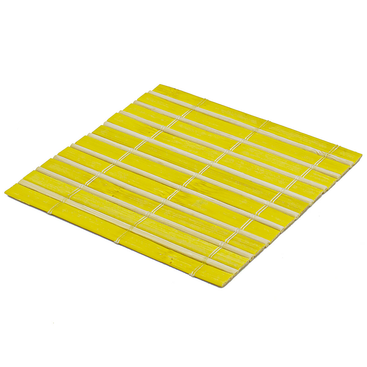 Набор чайных циновок (бамбук), жёлтые, 10 х 10 см, 5 шт/упак набор чайных циновок бамбук красные двухцветные 10 х 10 см 5 шт упак