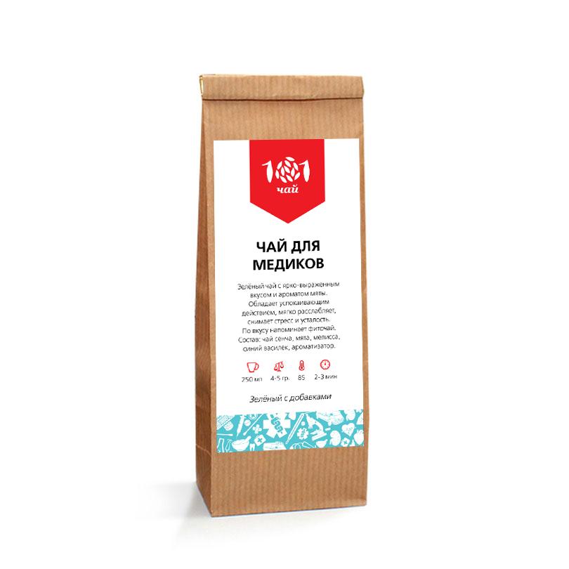 Подарочный чай для медиков (зеленый), 50 г цена