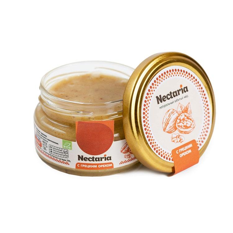 Крем-мёд Nectaria с грецким орехом, 130 г цена 2017