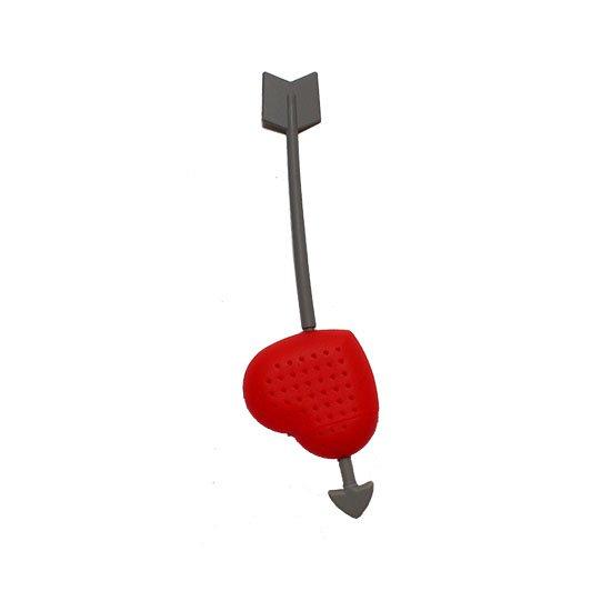 Заварник силиконовый в виде сердца Heart (красный)