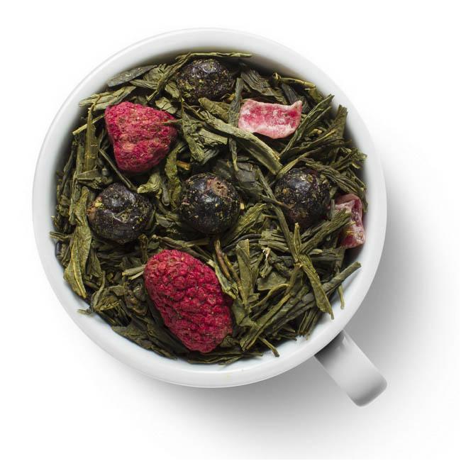 Зеленый ароматизированный чай Малина и Мята
