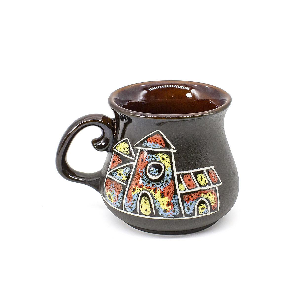 Чашка глиняная Город, 100 мл