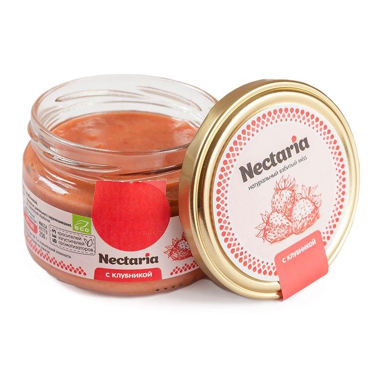 Крем-мёд Nectaria с клубникой, 250 г
