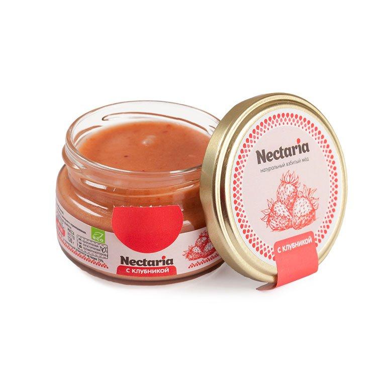 Крем-мёд Nectaria с клубникой, 100 г