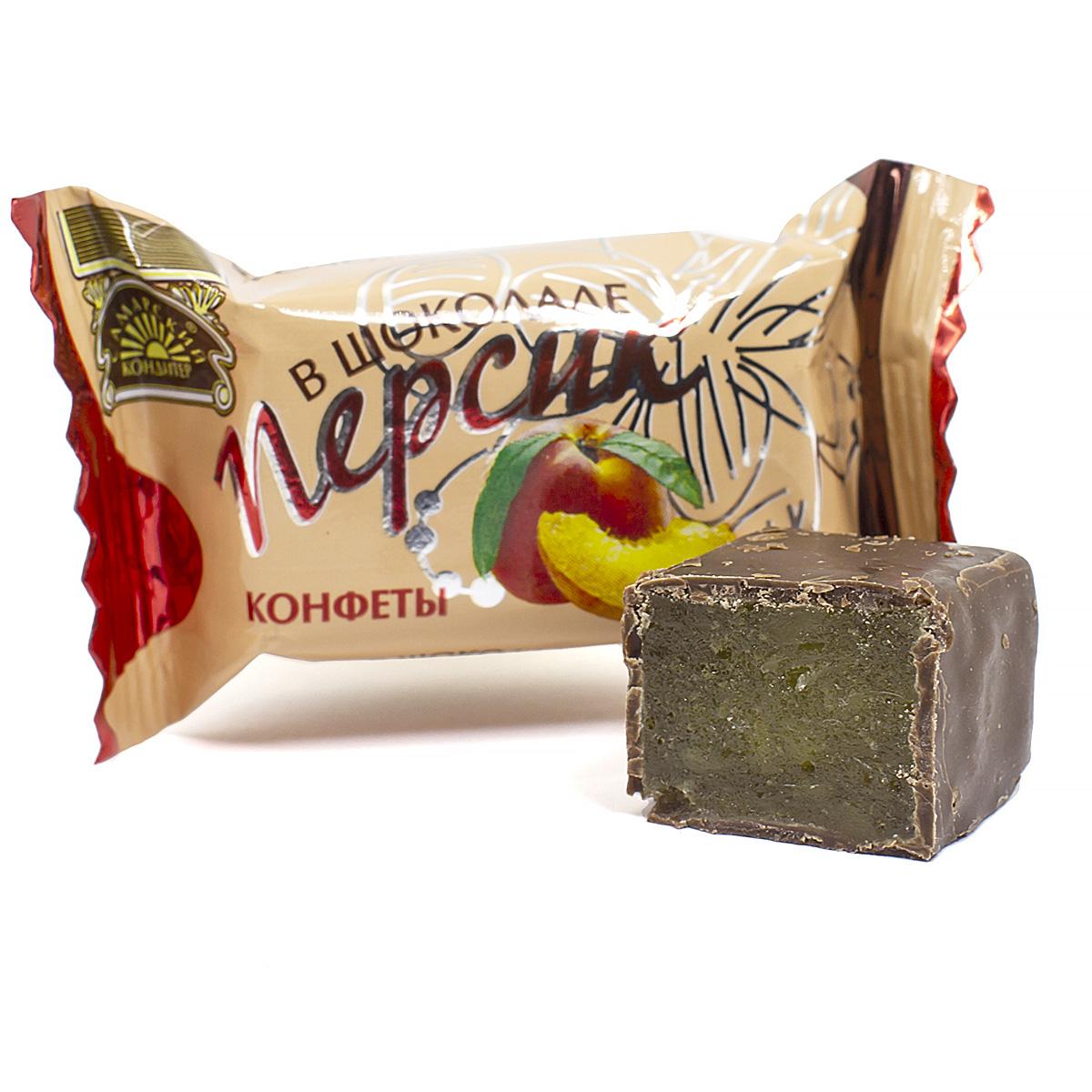 Конфеты Персик в шоколаде