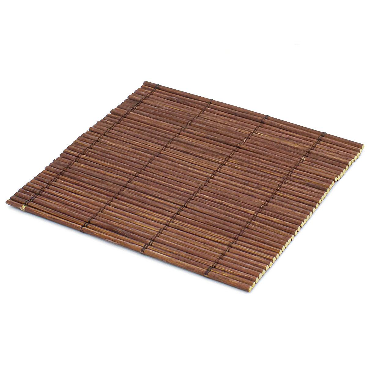 Набор чайных циновок (бамбук), глубокий коричневый, 10 х 10 см, 5 шт/упак