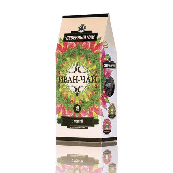 """Иван-чай """"Северный чай"""" ферментированный с мятой, 50 г от 101 Чай"""
