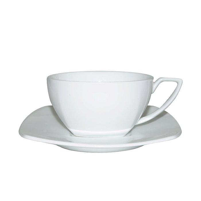 Набор фарфоровых чашек с блюдцем, 150 мл (6 шт.)