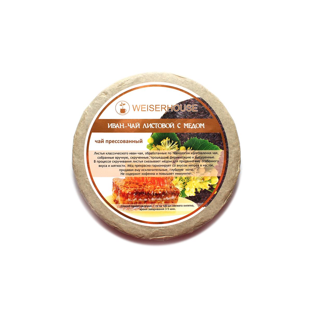 Купить со скидкой Иван-чай с медом, прессованный в блин, 125 г