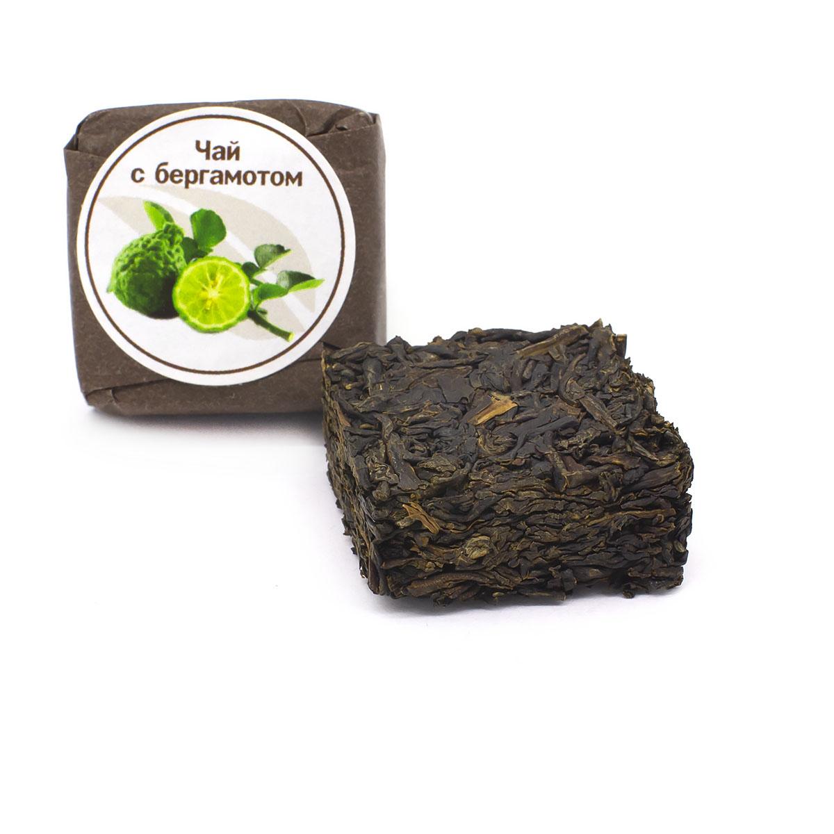 Чай с бергамотом прессованный, кубик 5-7 г чай черный байховый бонтон крепкий цейлонский крупнолистовой 726 с ароматом бергамота 100 г