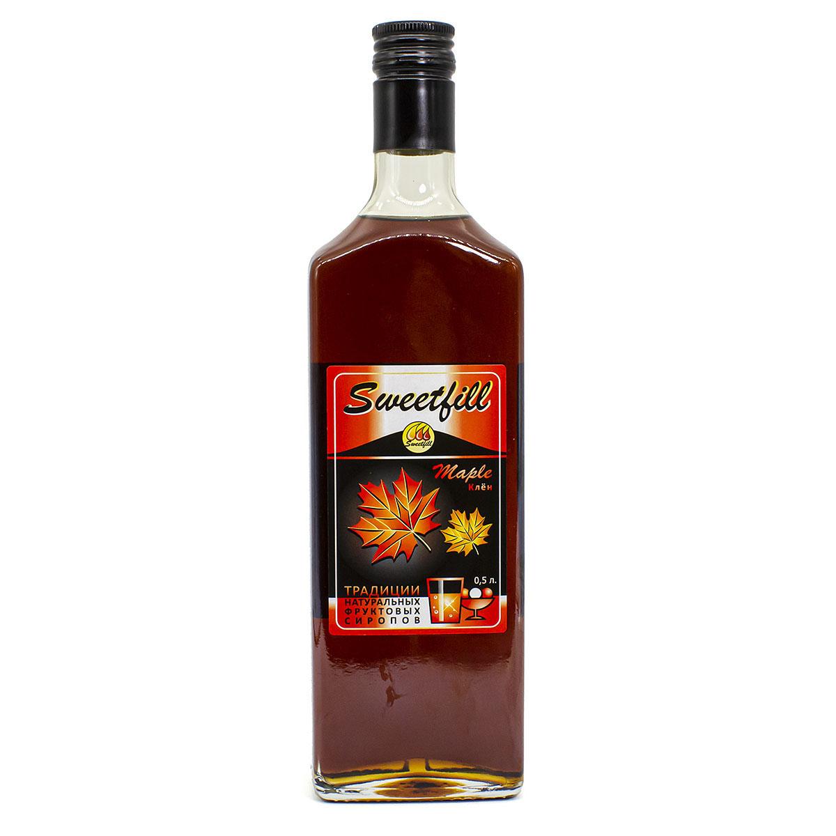 Сироп Sweetfill Клён, 0,5 л сироп sweetfill маракуйя 0 5 л