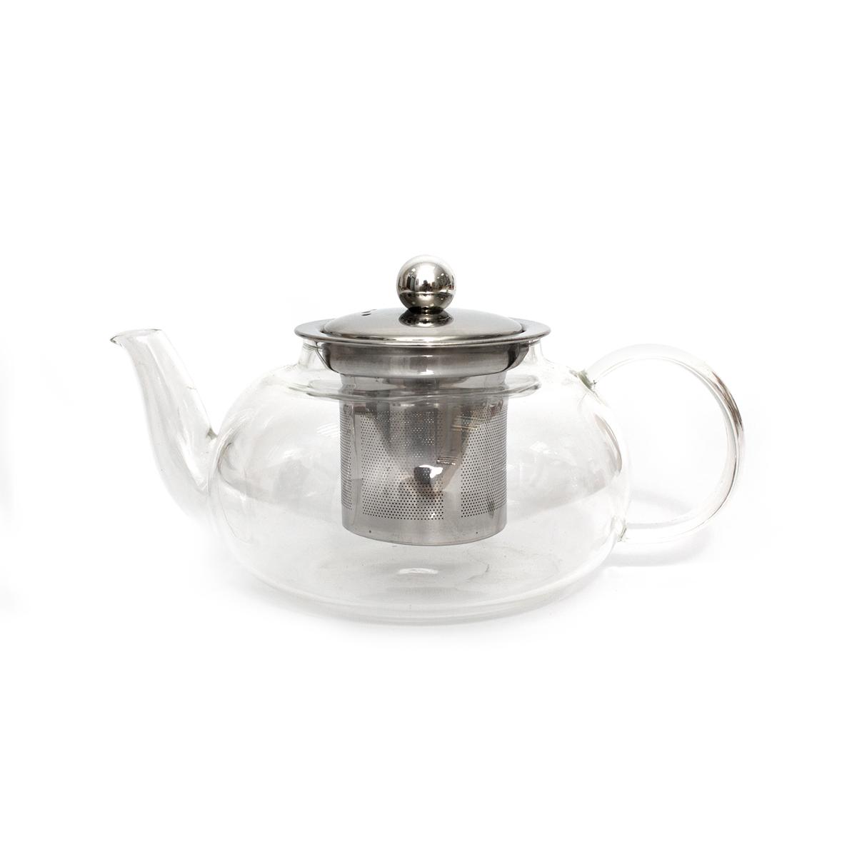 Стеклянный заварочный чайник Ландыш-2, 600 мл стеклянный заварочный чайник смородина малая без заварочной колбы 600 мл