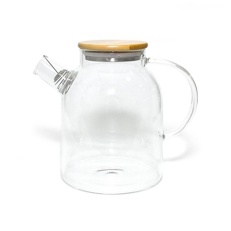 """Стеклянный заварочный чайник """"Бочонок"""", 1500 мл"""